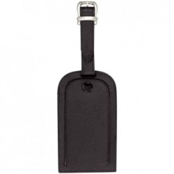 ALASSIO Porte Etiquette à bagage 65x115m en cuir Noir