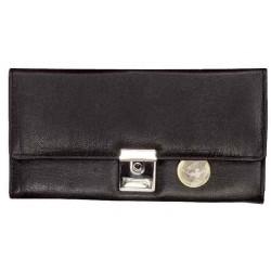ALASSIO Porte-monnaie de serveur en cuir Noir