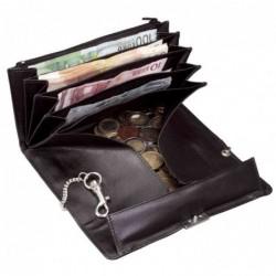 ALASSIO Porte-monnaie de serveur, en cuir nappa, noir