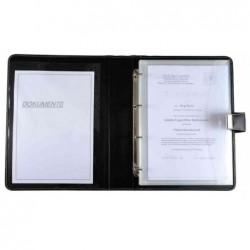 ALASSIO Porte document, format A4, en cuir, noir