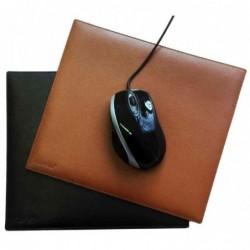 ALASSIO Tapis de souris 25 x 22 cm cuir véritable Cognac