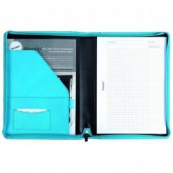 "ALASSIO Porte-documents ""VALLO"" A4 cuir nappa Turquoise"