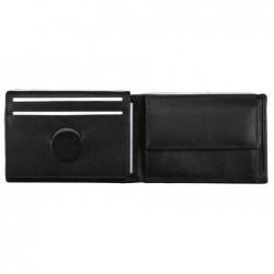 ALASSIO Mini porte-monnaie 100 x 70 mm cuir nappa noir