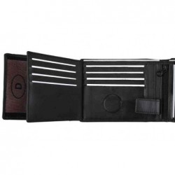 ALASSIO Portefeuille format paysage 125 95 mm cuir nappa noir