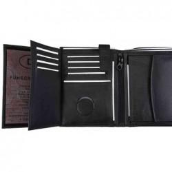 ALASSIO Portefeuille combiné format portrait 95 x 120 cuir nappa noir