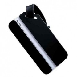 ALASSIO Porte-étiquettes bagage 41x80 mm en aluminium Noir