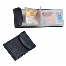 ALASSIO Porte 10 carte de crédit et de visite « RFID sécurisé » 105 x 75 mm Noir