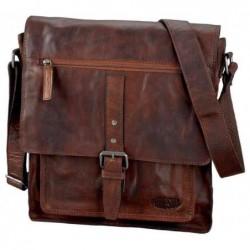"""PRIDE&SOUL sac à bandoulière """"ETHAN"""", en cuir, marron"""