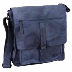 """PRIDE&SOUL sac à bandoulière """"ETHAN"""", en cuir, bleu"""