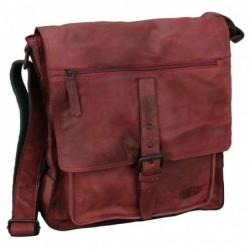 """PRIDE&SOUL sac à bandoulière """"ETHAN"""", en cuir, rouge"""