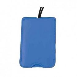 ALASSIO Étiquettes à bagages 76 x 110 mm imitation Cuir Bleu