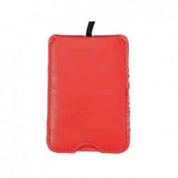 ALASSIO Étiquettes à bagages 76 x 110 mm imitation Cuir Rouge