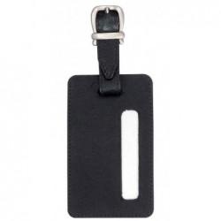 ALASSIO Étiquette à bagages 70 x 115 mm Cuir noir