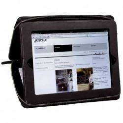 ALASSIO Sacoche organiseur « FLUSH » pour iPad 1/2/3 Cuir  noir / gris