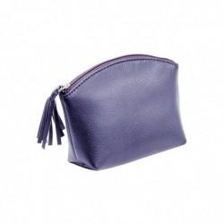 ALASSIO Trousse à cosmétique, cuir, bleu