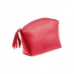 ALASSIO Trousse à cosmétique, cuir, rouge