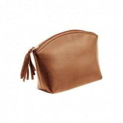 ALASSIO Trousse à cosmétique, cuir, marron