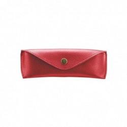 ALASSIO Etui à lunettes, grand, couleur: rouge