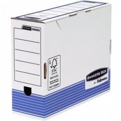 FELLOWES Lot de 10 Boîtes d'archivage R-Kive PRIMA  blanc/bleu dos 100mm