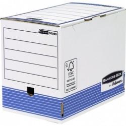 BANKERS BOX Lot de 10 Boîte d'archives Dos de 200 mm Blanc / Bleu