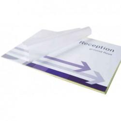 FELLOWES Pack 100 Pochettes de plastification Peel & Stick A3 160 Mic Dos Adhésif