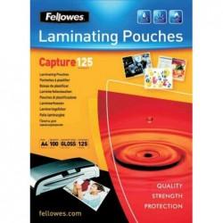 FELLOWES Pochette à plastifier, A4, brillante, 250 microns (2x125) pqt 100