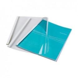 FELLOWES couverture reliure thermique Standard, A4, 6 mm, blanc pqt 100