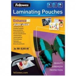 FELLOWES Pack de 100 Pochettes à plastifier Super Quick A4 160 mic (2x80)