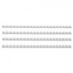 FELLOWES baguettes à relier plastiques, format A4, 28,0 mm, blanc Pack de 50