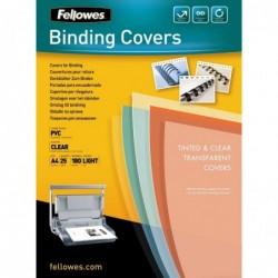 FELLOWES Pqt de 25 Couvertures PVC A4 0,18 mm Transparent