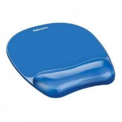 FELLOWES Repose-poignet avec tapis de souris Crystal Gel Bleu