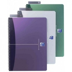 """OXFORD Cahier """"OFFICE"""" Reliure intégrale A5 Ligné 90 F 90g Couv. Polypro Assorties"""
