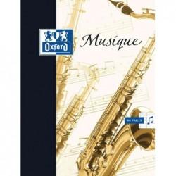 OXFORD cahier de musique 240 x 320 mm portée / séyès 48 p 90g