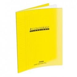 CONQUÉRANT SEPT Cahier Polypro 170 x 220 mm 48 pages Grands carreaux séyès 90g Jaune