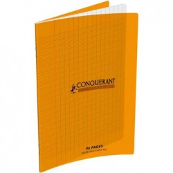 CONQUÉRANT SEPT Cahier Polypro 170 x 220 mm 48 pages 90g séyès Orange