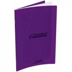 """CONQUÉRANT SEPT Cahier """"CONQUERANT CLASSIQUE"""" 170 x 220 mm, 48 pages séyès, violet"""