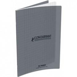 CONQUÉRANT SEPT Cahier couverture Polypro 170 x 220 mm 96 pages 90g séyès Gris
