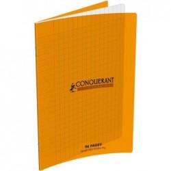 CONQUÉRANT SEPT Cahier Piqué Couv Polypro A4 210 x 297 mm Séyès 96 Pages 90g Orange