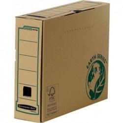 FELLOWES Lot de 20 Boîtes d'archives EARTH A4+ dos de 8 cm montage manuel Marron