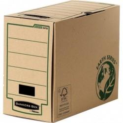 FELLOWES Lot de 20 Boîtes d'archives A4+ dos de 15 cm montage manuel Marron