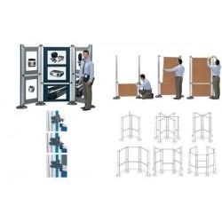 NOBO Modular Stand d'exposition petit panneau feutre A1