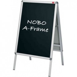 NOBO Lot de 2 encart tableau noir pour chavalet porte-affiche A1