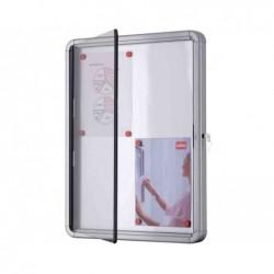 NOBO vitrine d'extérieur fond magnétique 4xA4 porte battante blanc