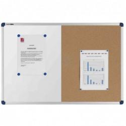 NOBO Ttableau mixte tableau blanc/panneau en liège blanc et liège 900x600mm