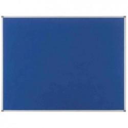 NOBO Tableau d'affichage Classic en feutre 1200x900mm bleu