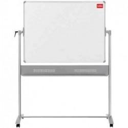 NOBO Tableau blanc mobile pivotant émaillé magnétique 1200x900 mm