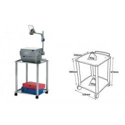 NOBO table polyvalente pour rétroprojecteur ou téléviseur 2 étagères