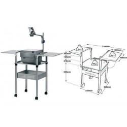 NOBO table pour rétroprojecteur à tablettes rabattables