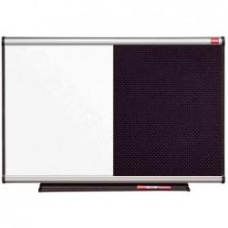 NOBO prestige combination board, tableau blanc/mousse noir 90 x 60 cm