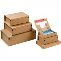 """COLOMPAC Carton d'expédition """"POST"""", taille: L, marron"""